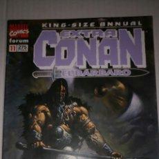 Cómics: CONAN EXTRA KING-SIZE ANNUAL, NÚMERO 11, ÚLTIMO, DIFICIL DE CONSEGUIR.. Lote 169651157