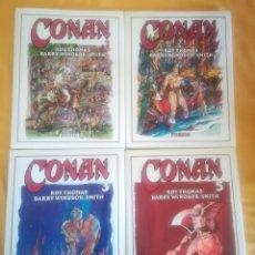 Cómics: CONAN 1,2,3,5 ROY THOMAS. Lote 169902900