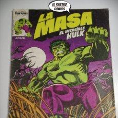 Cómics: LA MASA Nº 1, ED. FORUM AÑO 1983, EL INCREIBLE HULK. Lote 170316344