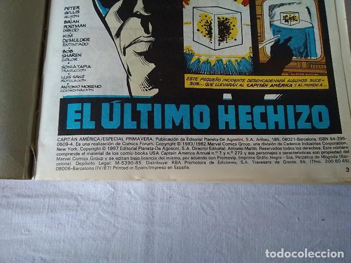 Cómics: 42-ALBUM ESPECIAL CAPITAN AMERICA, FORUM, 1987 - Foto 2 - 171056542