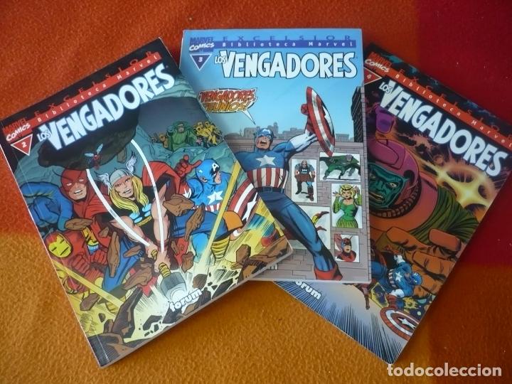 LOS VENGADORES NºS 2, 3 Y 4 BIBLIOTECA MARVEL ( LEE KIRBY HECK ) ¡BUEN ESTADO! FORUM (Tebeos y Comics - Forum - Vengadores)