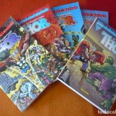 Cómics: THOR BIBLIOTECA MARVEL 1, 2, 3, 4 Y 5 ( STAN LEE KIRBY ) ¡MUY BUEN ESTADO! FORUM EXCELSIOR. Lote 182194783