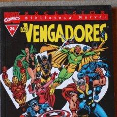 Cómics: BIBLIOTECA MARVEL LOS VENGADORES NÚM. 24, B/N. Lote 183357576