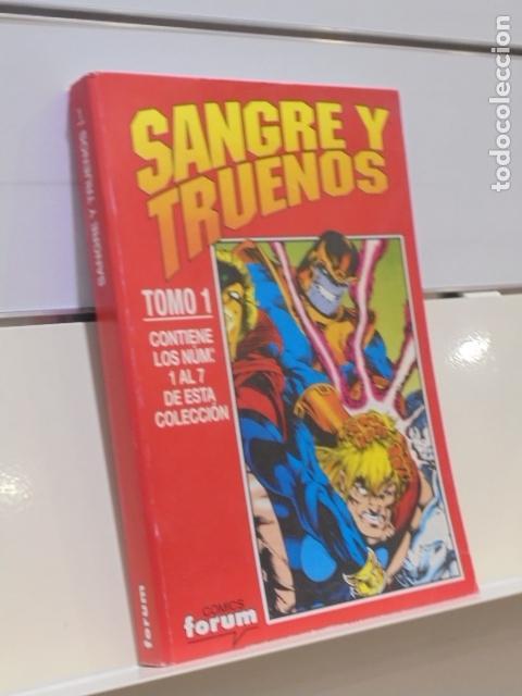 RETAPADO SANGRE Y TRUENOS COMPLETA CONTIENE LOS Nº 1-2-3-4-5-6 Y 7 DE LA COLECCION - FORUM (Tebeos y Comics - Forum - Otros Forum)