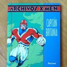 Cómics: ARCHIVOS X-MEN: CAPITÁN BRITANIA. Lote 172435037