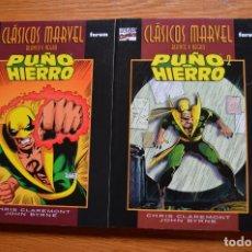 Cómics: CLÁSICOS MARVEL B/N: PUÑO DE HIERRO 1-2. Lote 172436457