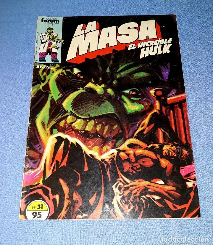 LA MASA EL INCREIBLE HULK COMICS FORUM MARVEL Nº 31 DESDE 1 EURO ORIGINAL VER FOTO Y DESCRIPCION (Tebeos y Comics - Forum - Hulk)