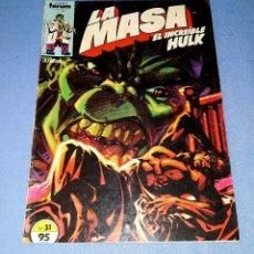 Cómics: LA MASA EL INCREIBLE HULK COMICS FORUM MARVEL Nº 31 DESDE 1 EURO ORIGINAL VER FOTO Y DESCRIPCION. Lote 172744877