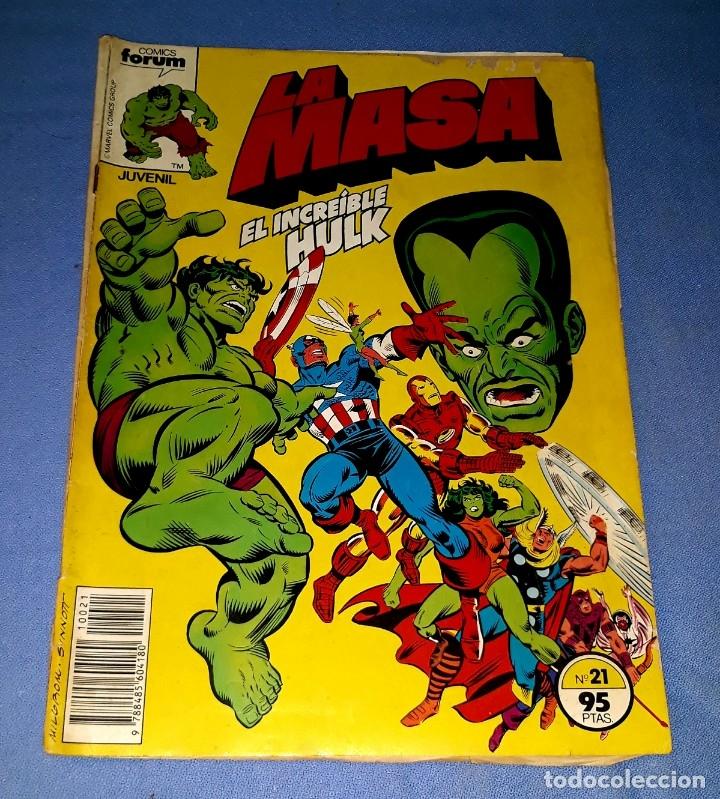 LA MASA EL INCREIBLE HULK COMICS FORUM MARVEL Nº 21 DESDE 1 EURO ORIGINAL VER FOTO Y DESCRIPCION (Tebeos y Comics - Forum - Hulk)