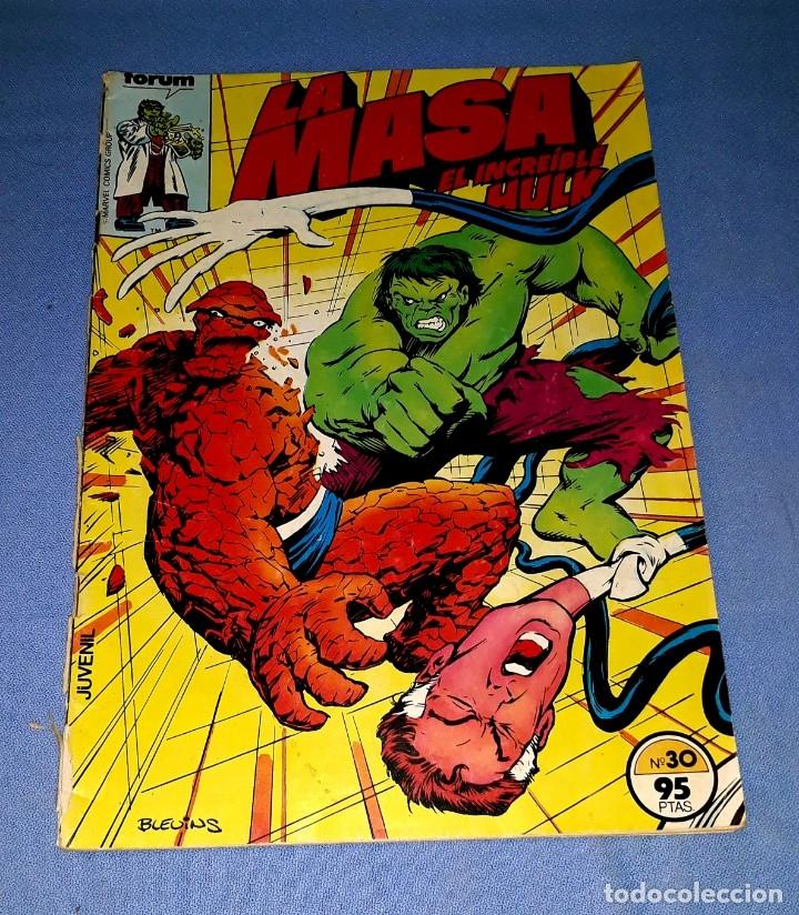 LA MASA EL INCREIBLE HULK COMICS FORUM MARVEL Nº 30 DESDE 1 EURO ORIGINAL VER FOTO Y DESCRIPCION (Tebeos y Comics - Forum - Hulk)