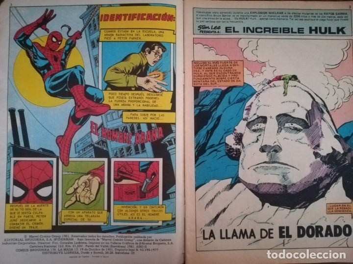 Cómics: LA MASA Nº 13. ¡El Dorado!. EL INCREÍBLE HULK. BRUGUERA 1981 - Foto 3 - 173795243