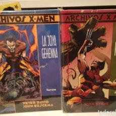 Cómics: ARCHIVOS X-MEN LOBEZNO-DOS TOMOS-FORUM. Lote 173831320