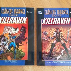 Cómics: KILLRAVEN 1-2 (CLÁSICOS MARVEL EN B/N). Lote 174121324