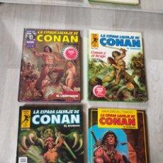 Cómics: LOTE 4 TOMOS COMICS SUPER CONAN LA ESPADA SALVAJE DE CONAN FORUM. Lote 174330055