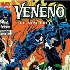 Cómics: VENENO EL MACERO SERIE LIMITADA 3 NÚMEROS MARVEL-FORUM 1995. Lote 235651355