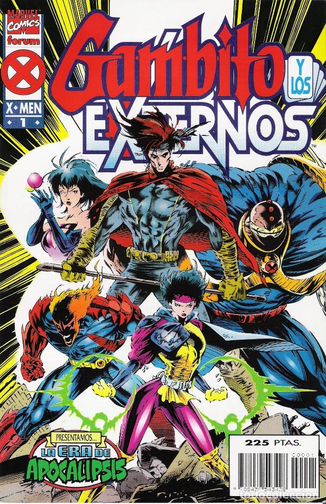 GAMBITO Y LOS EXTERNOS (LA ERA DE APOCALIPSIS) SERIE DE 4 NÚMEROS MARVEL-FORUM 1995-1996 (Tebeos y Comics - Forum - X-Men)