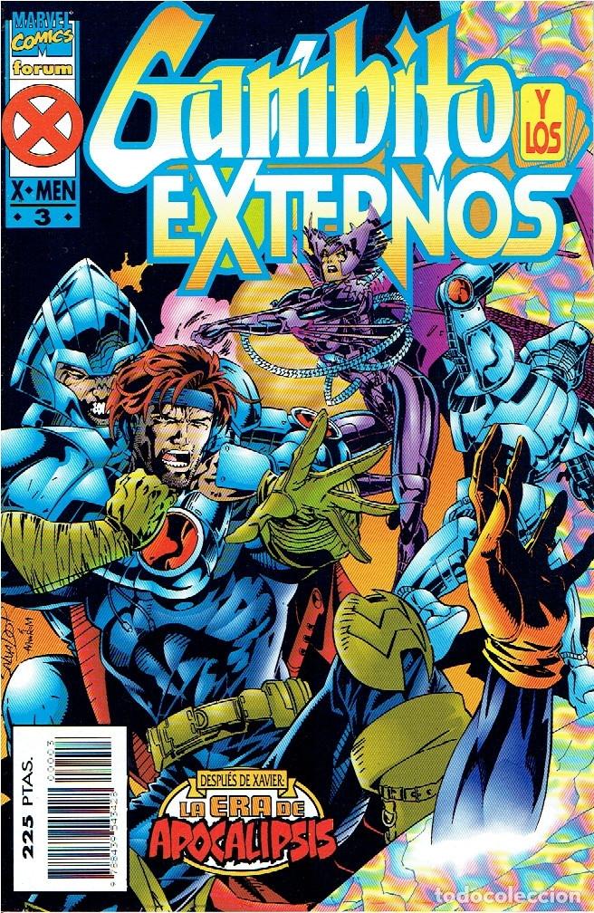 Cómics: GAMBITO Y LOS EXTERNOS (LA ERA DE APOCALIPSIS) SERIE DE 4 NÚMEROS MARVEL-FORUM 1995-1996 - Foto 3 - 174513813