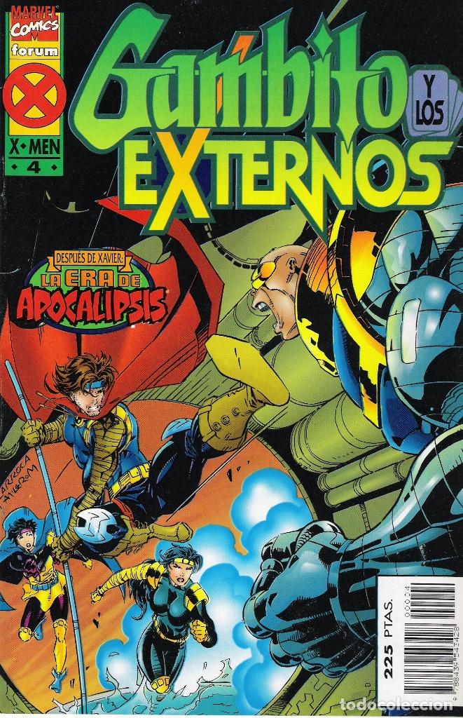 Cómics: GAMBITO Y LOS EXTERNOS (LA ERA DE APOCALIPSIS) SERIE DE 4 NÚMEROS MARVEL-FORUM 1995-1996 - Foto 4 - 174513813