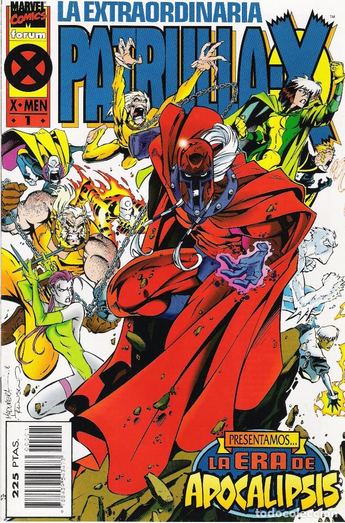 LA EXTRAORDINARIA PATRULLA-X (LA ERA DE APOCALIPSIS) SERIE DE 4 NÚMEROS MARVEL-FORUM 95-96 (Tebeos y Comics - Forum - Patrulla X)