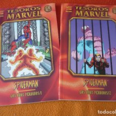 Cómics: SPIDERMAN LOS AÑOS PERDIDOS 1 Y 2 COMPLETA ( MILGROM MANTLO )¡MUY BUEN ESTADO! TESOROS MARVEL FORUM. Lote 174909228