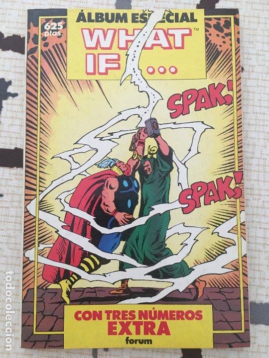 WHAT IF. ALBUM ESPECIAL. RETAPADO DE 3 NUMEROS ESPECIALES DEL AÑO 1990 DE ESTA COLECCION. (Tebeos y Comics - Forum - Otros Forum)