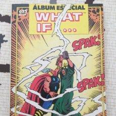 Cómics: WHAT IF. ALBUM ESPECIAL. RETAPADO DE 3 NUMEROS ESPECIALES DEL AÑO 1990 DE ESTA COLECCION.. Lote 175012454