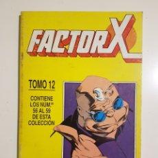Comics : FACTOR-X - RETAPADO TOMO 12 - NUMEROS 56 / 57 / 58 / 59 - FORUM. Lote 175056108