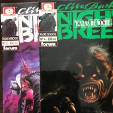 Cómics: LOTE RAZAS DE NOCHE NIGHT BREED FORUM 3 4. Lote 175745597