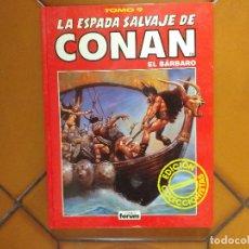 Cómics: LA ESPADA SALVAJE DE CONAN EL BÁRBARO. TOMO 9.. Lote 176011448