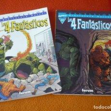 Cómics: LOS 4 FANTASTICOS TOMOS 01 Y 02 BIBLIOTECA MARVEL ( STAN LEE KIRBY ) ¡BUEN ESTADO! FORUM. Lote 176270433