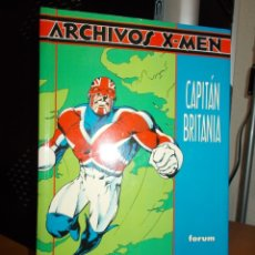 Cómics: ARCHIVOS X-MEN: CAPITAN BRITANIA - ALAN MOORE / ALAN DAVIS (FORUM). Lote 176278175