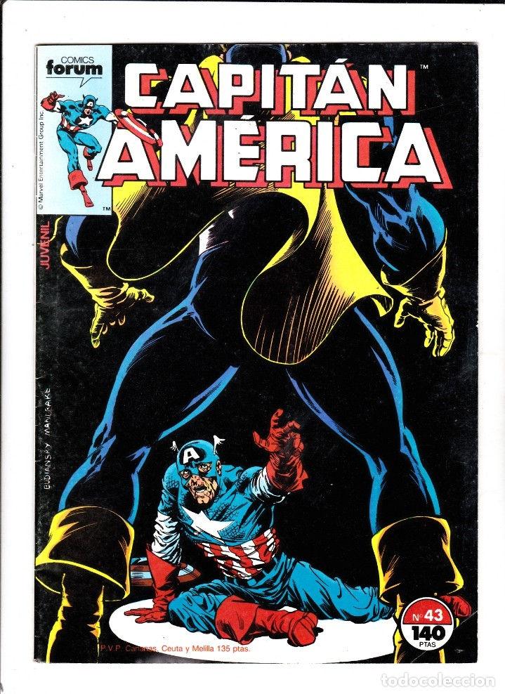 Cómics: CAPTAN AMERICA VOL 1 Nº 43 - FORUM - Foto 1 - 176399060