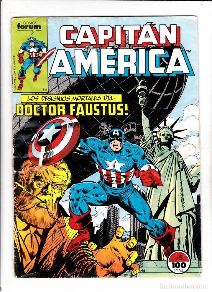CAPTAN AMERICA VOL 1 Nº 5 - FORUM (Tebeos y Comics - Forum - Capitán América)