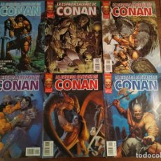 Cómics: LOTE 6 COMICS LA ESPADA SALVAJE DE CONAN VOL. II. NºS 1-4 Y 6 Y 7. Lote 176430270