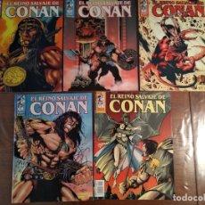 Cómics: LOTE DE 5 COMICS: EL REINO SALVAJE DE CONAN. Nº 1-5. Lote 176430703