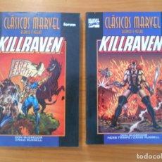 Cómics: KILLRAVEN - CLASICOS MARVEL BLANCO Y NEGRO - COMPLETA - 2 TOMOS - FORUM (I1). Lote 176685617