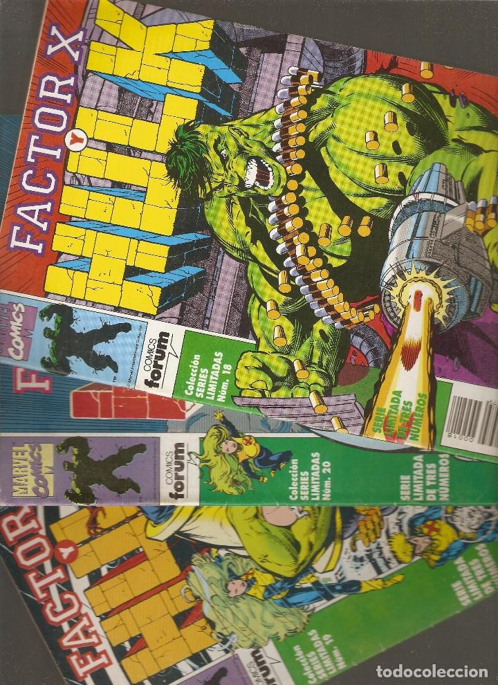 FACTOR X Y HULK - Nº 1 - 2 Y 3 COMPLETA - SERIES LIMITADAS VOL.1 Nº 18 - 19 Y 20 - 1992 - FORUM - (Tebeos y Comics - Forum - Factor X)