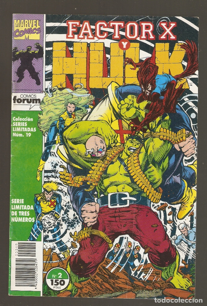 Cómics: FACTOR X Y HULK - Nº 1 - 2 Y 3 COMPLETA - SERIES LIMITADAS vol.1 nº 18 - 19 Y 20 - 1992 - FORUM - - Foto 4 - 177703679