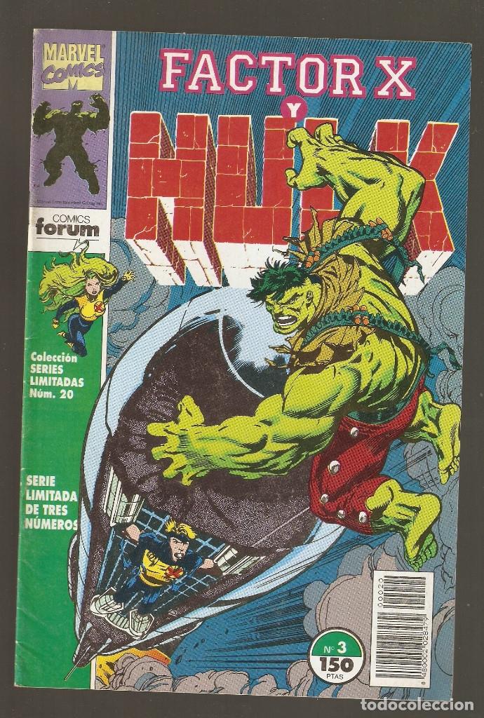 Cómics: FACTOR X Y HULK - Nº 1 - 2 Y 3 COMPLETA - SERIES LIMITADAS vol.1 nº 18 - 19 Y 20 - 1992 - FORUM - - Foto 6 - 177703679