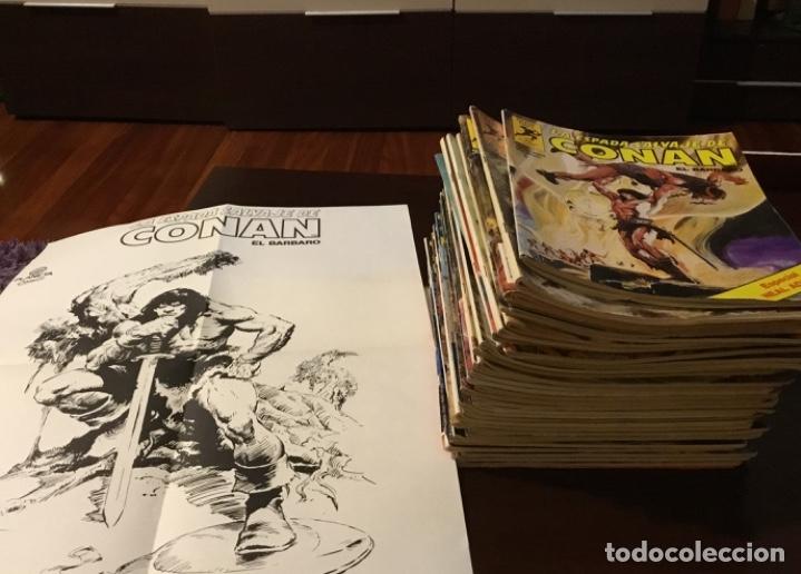 LOTE CONAN LA ESPADA SALVAJE 1ºEDICION 35 COMICS MAS POSTER CON EL NUMERO 1 (Tebeos y Comics - Forum - Conan)
