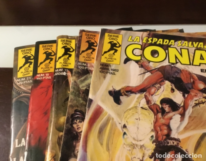 Cómics: Lote Conan la espada salvaje 1ºedicion 35 comics mas poster con el numero 1 - Foto 3 - 177760872