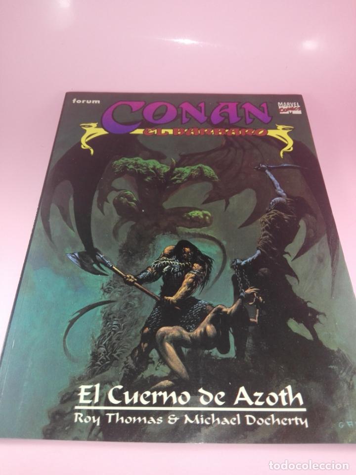 Cómics: COMIC-EL CUERNO DE AZOTH-CONAN EL BÁRBARO-ROY THOMAS & MICHAEL DOCHERTY-MARVEL COMICS-FORUM-1995 - Foto 2 - 177962483