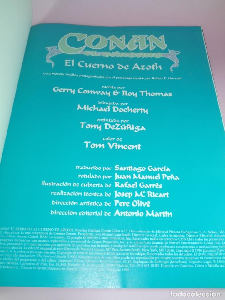 Cómics: COMIC-EL CUERNO DE AZOTH-CONAN EL BÁRBARO-ROY THOMAS & MICHAEL DOCHERTY-MARVEL COMICS-FORUM-1995 - Foto 6 - 177962483