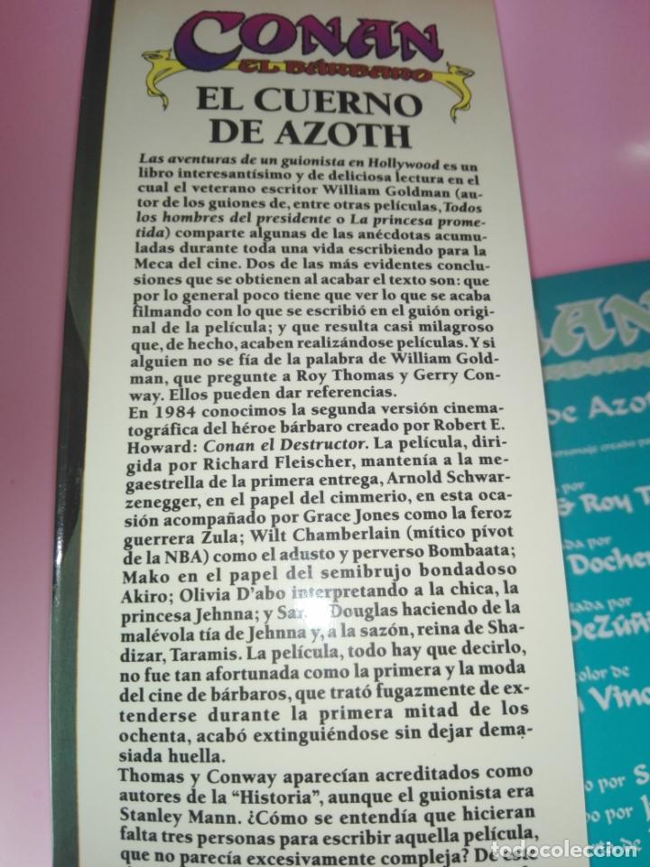 Cómics: COMIC-EL CUERNO DE AZOTH-CONAN EL BÁRBARO-ROY THOMAS & MICHAEL DOCHERTY-MARVEL COMICS-FORUM-1995 - Foto 7 - 177962483