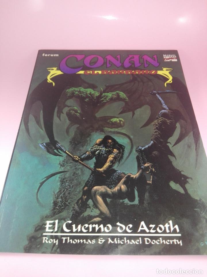 COMIC-EL CUERNO DE AZOTH-CONAN EL BÁRBARO-ROY THOMAS & MICHAEL DOCHERTY-MARVEL COMICS-FORUM-1995 (Tebeos y Comics - Forum - Conan)