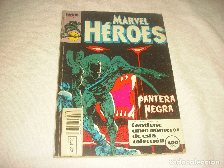 MARVEL HEROES. FORUM, RETAPADO CONTIENE 5 NUMEROS, DEL 45 AL 49. (Tebeos y Comics - Forum - Retapados)