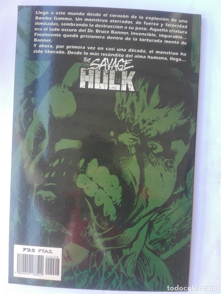 Cómics: THE SAVAGE HULK 8 - MARVEL EDGE SPECIAL# Y3 - Foto 2 - 178574736