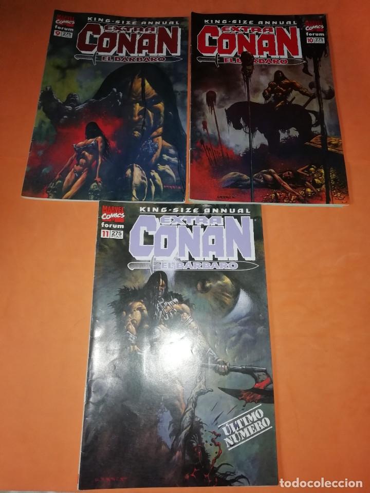 EXTRA CONAN EL BARBARO KING-SIZE ANNUAL. TRES ULTIMOS NUMEROS. 9,10 Y 11. (Tebeos y Comics - Forum - Conan)