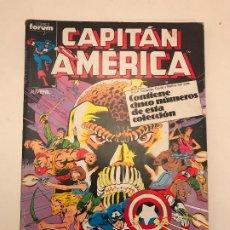 Cómics: CAPITAN AMERICA RETAPADO CON LOS NUMEROS 36 AL 40. FORUM 1988. Lote 179155627