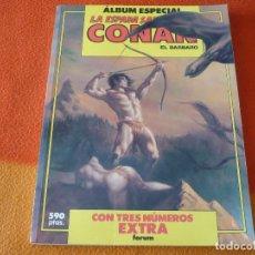 Cómics: LA ESPADA SALVAJE DE CONAN ALBUM ESPECIAL CON TRES 3 NUMEROS EXTRA ¡BUEN ESTADO! FORUM. Lote 179375418